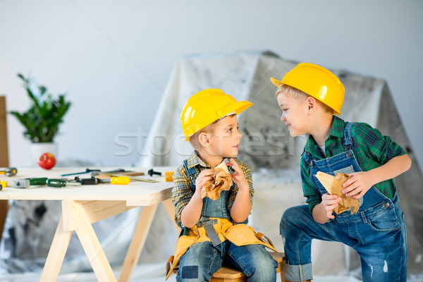 Boys eating sandwiches    Stock photo © LightFieldStudios