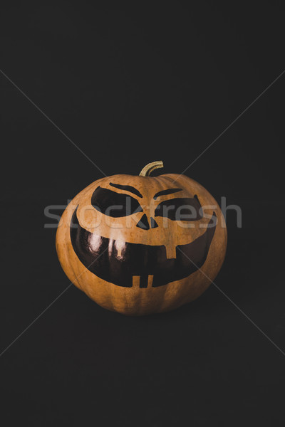 pumpkin with scary face for halloween Stock photo © LightFieldStudios