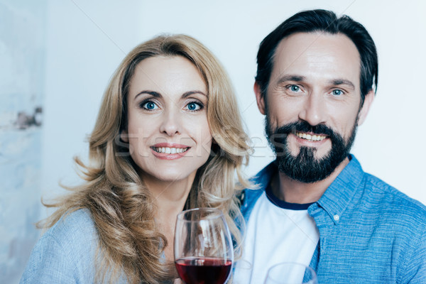 couple drinking wine Stock photo © LightFieldStudios
