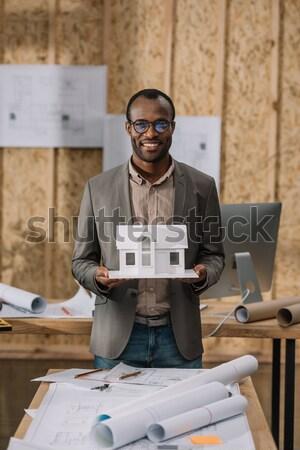 businessman using digital tablet Stock photo © LightFieldStudios