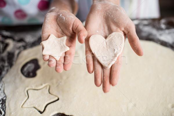 raw dough in hands Stock photo © LightFieldStudios