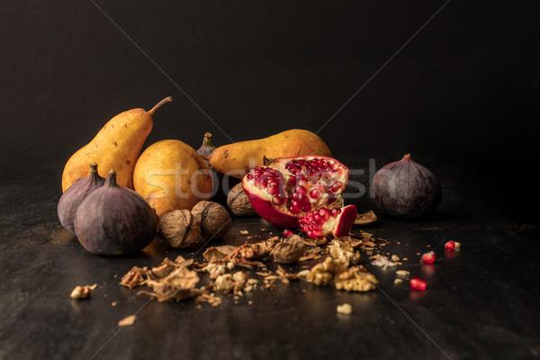 Organisch vruchten stilleven houten tafel hout Stockfoto © LightFieldStudios