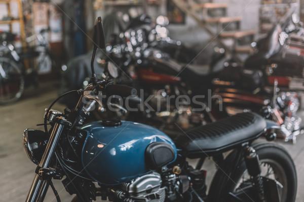 мотоциклов ремонта магазин классический Постоянный Adventure Сток-фото © LightFieldStudios