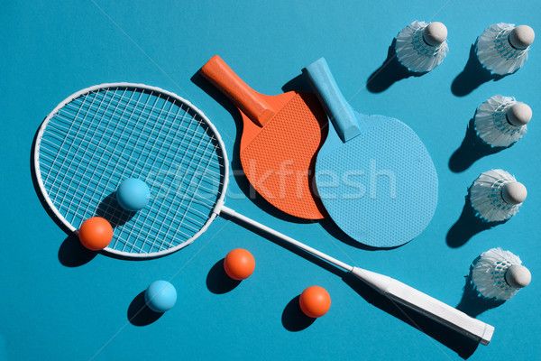 ping pong and badminton equipment Stock photo © LightFieldStudios