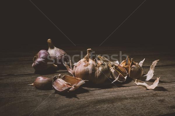Sağlıklı organik sarımsak görmek Stok fotoğraf © LightFieldStudios