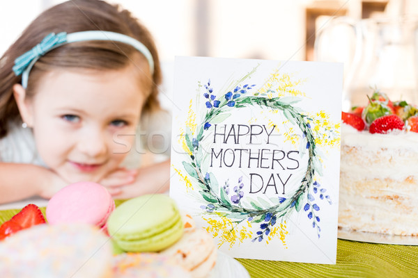 Happy mothers day greeting card Stock photo © LightFieldStudios