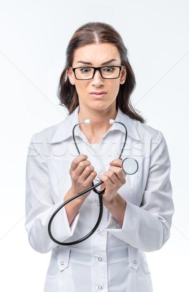 Female doctor with stethoscope  Stock photo © LightFieldStudios