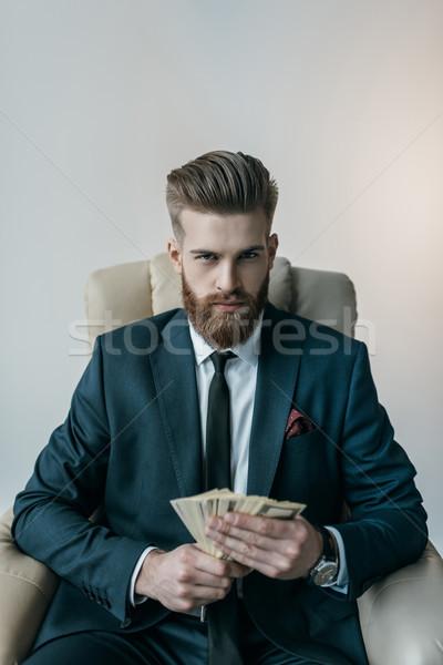 портрет бизнесмен кресло доллара Сток-фото © LightFieldStudios