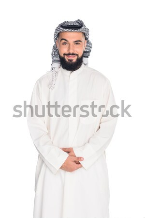 smiling muslim man Stock photo © LightFieldStudios