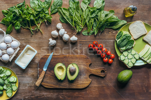 fresh avocado on cutting board Stock photo © LightFieldStudios
