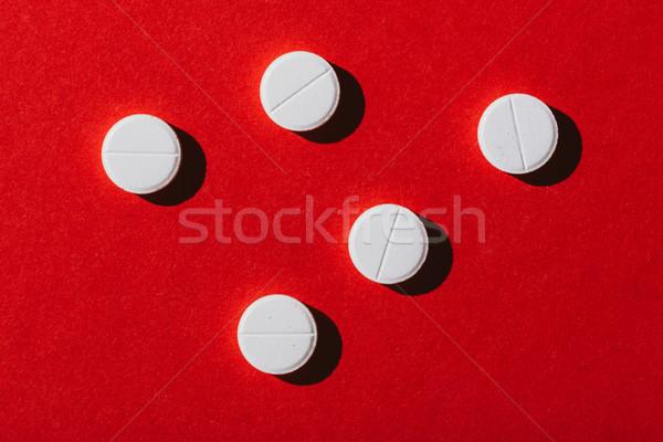 round white pills Stock photo © LightFieldStudios