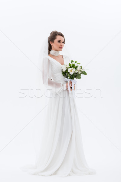 Stockfoto: Aantrekkelijk · jonge · bruid · traditioneel · jurk