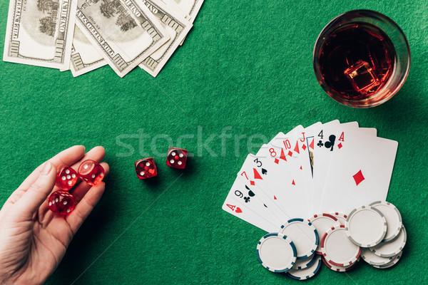 Femenino mano dados casino mesa Foto stock © LightFieldStudios