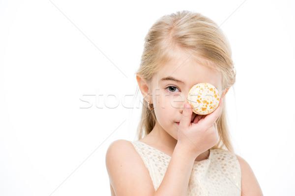 少女 マカロン 肖像 女の子 眼 ストックフォト © LightFieldStudios