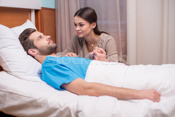 Stock photo: Man and woman in hospital