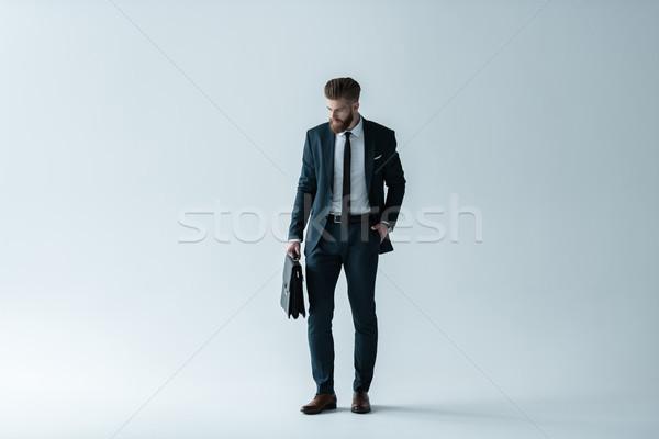 красивый бородатый бизнесмен стороны кармана Сток-фото © LightFieldStudios