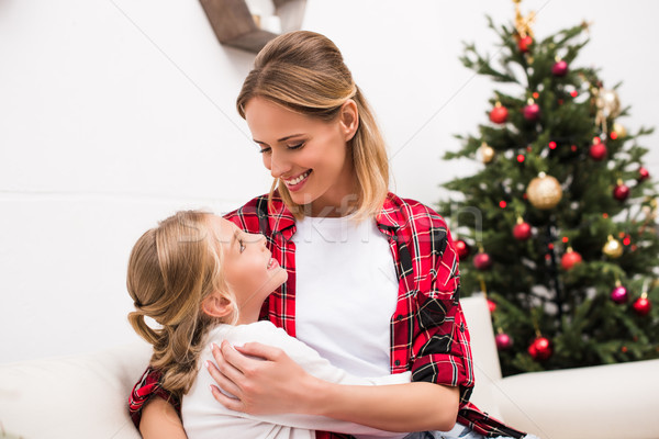 happy mother and daughter  Stock photo © LightFieldStudios