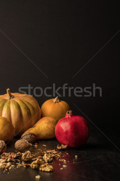 pumpkins, fruits and walnuts  Stock photo © LightFieldStudios