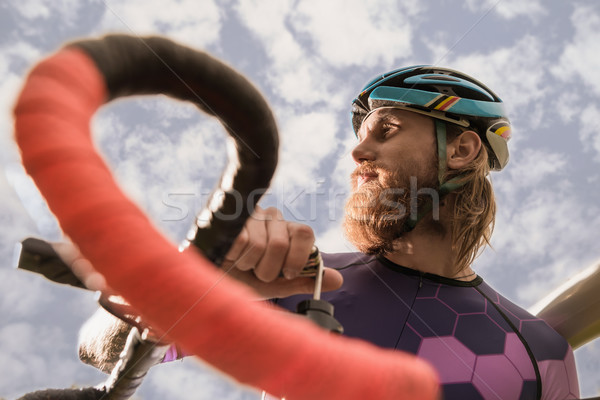 thoughtful cyclist looking away Stock photo © LightFieldStudios
