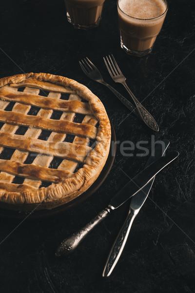 ягодные пирог столовое серебро мнение домашний Сток-фото © LightFieldStudios