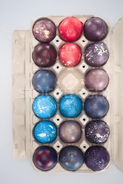 先頭 表示 伝統的な イースターエッグ トレイ 孤立した ストックフォト © LightFieldStudios