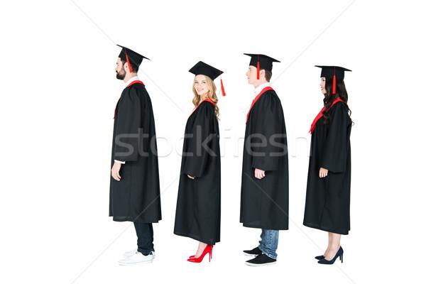 側面図 学生 アカデミック 卒業 立って ストックフォト © LightFieldStudios