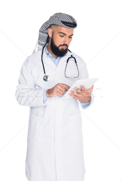 muslim doctor using tablet Stock photo © LightFieldStudios