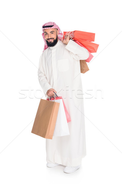 muslim man with shopping bags Stock photo © LightFieldStudios