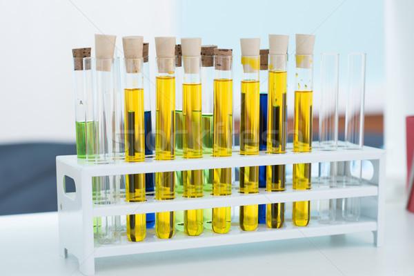 Test tubes with samples Stock photo © LightFieldStudios