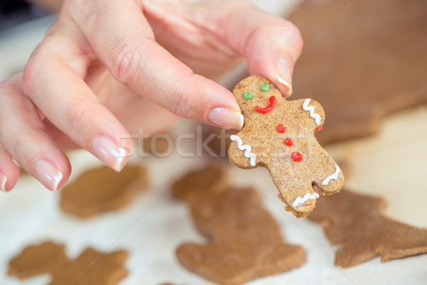 Cute gingerbread man  Stock photo © LightFieldStudios