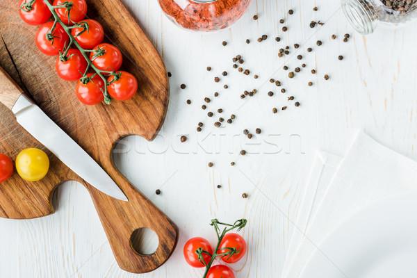 トマト まな板 先頭 表示 新鮮な ストックフォト © LightFieldStudios