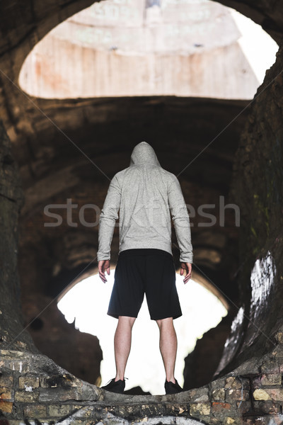 man in hoodie Stock photo © LightFieldStudios