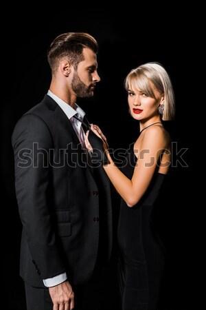 Mooie sensueel paar portret Stockfoto © LightFieldStudios