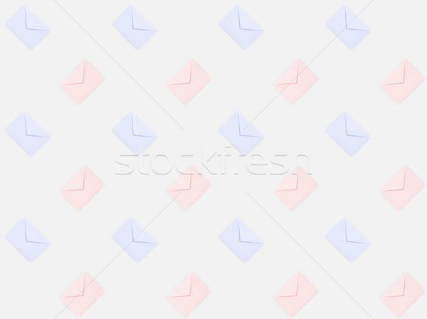 Repetitivo patrón mail azul colores Foto stock © LightFieldStudios