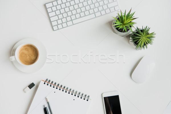 üst görmek klavye tablo Stok fotoğraf © LightFieldStudios