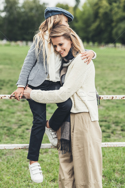 mother and daughter at countryside   Stock photo © LightFieldStudios