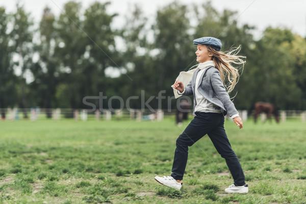 happy running child Stock photo © LightFieldStudios