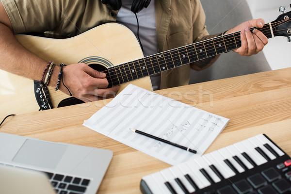 музыканта играет гитаре выстрел месте музыку Сток-фото © LightFieldStudios