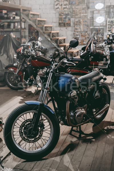classic motorcycles in workshop Stock photo © LightFieldStudios