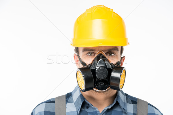 Workman in protective workwear Stock photo © LightFieldStudios