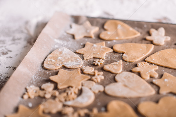 'Close-up view of uncooked homemade cookies on baking paper Stock photo © LightFieldStudios