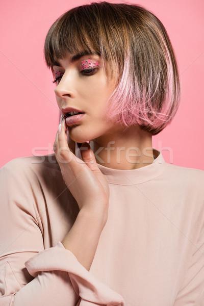 トレンディー 女性 パーティ 化粧 小さな ピンク ストックフォト © LightFieldStudios