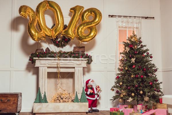 golden 2018 sign balloons Stock photo © LightFieldStudios