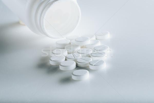 Stockfoto: Witte · grijs · pillen