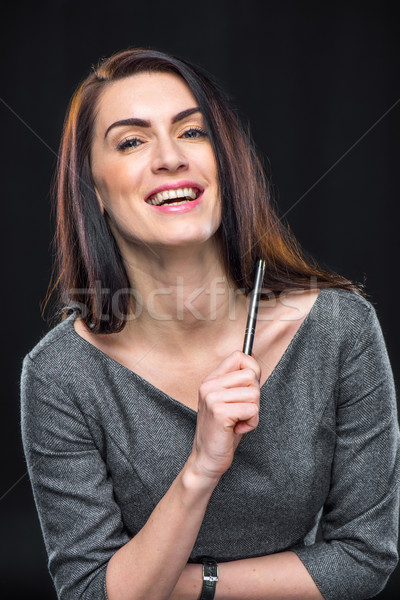 Laughing young woman Stock photo © LightFieldStudios