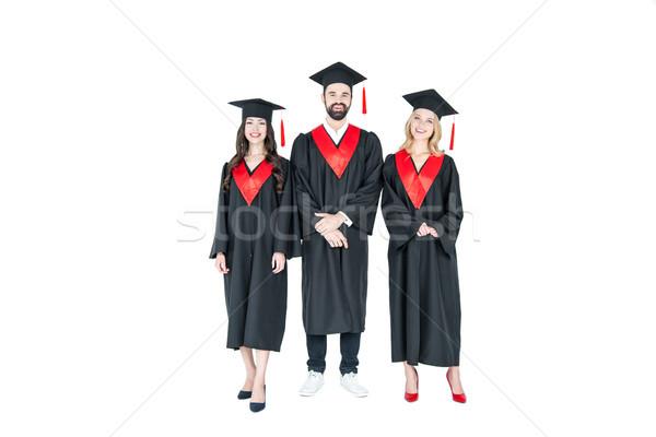Gelukkig studenten afstuderen Stockfoto © LightFieldStudios