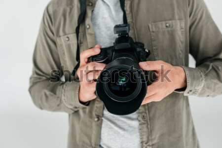 professional photographer with camera Stock photo © LightFieldStudios