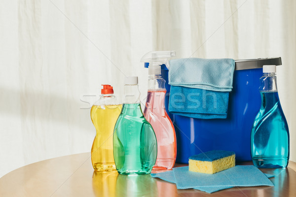cleaning products and bucket Stock photo © LightFieldStudios