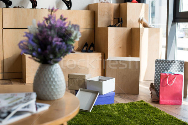 shoes and boxes in boutique Stock photo © LightFieldStudios