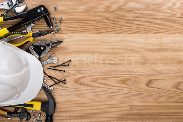 various reparement tools and hardhat  Stock photo © LightFieldStudios